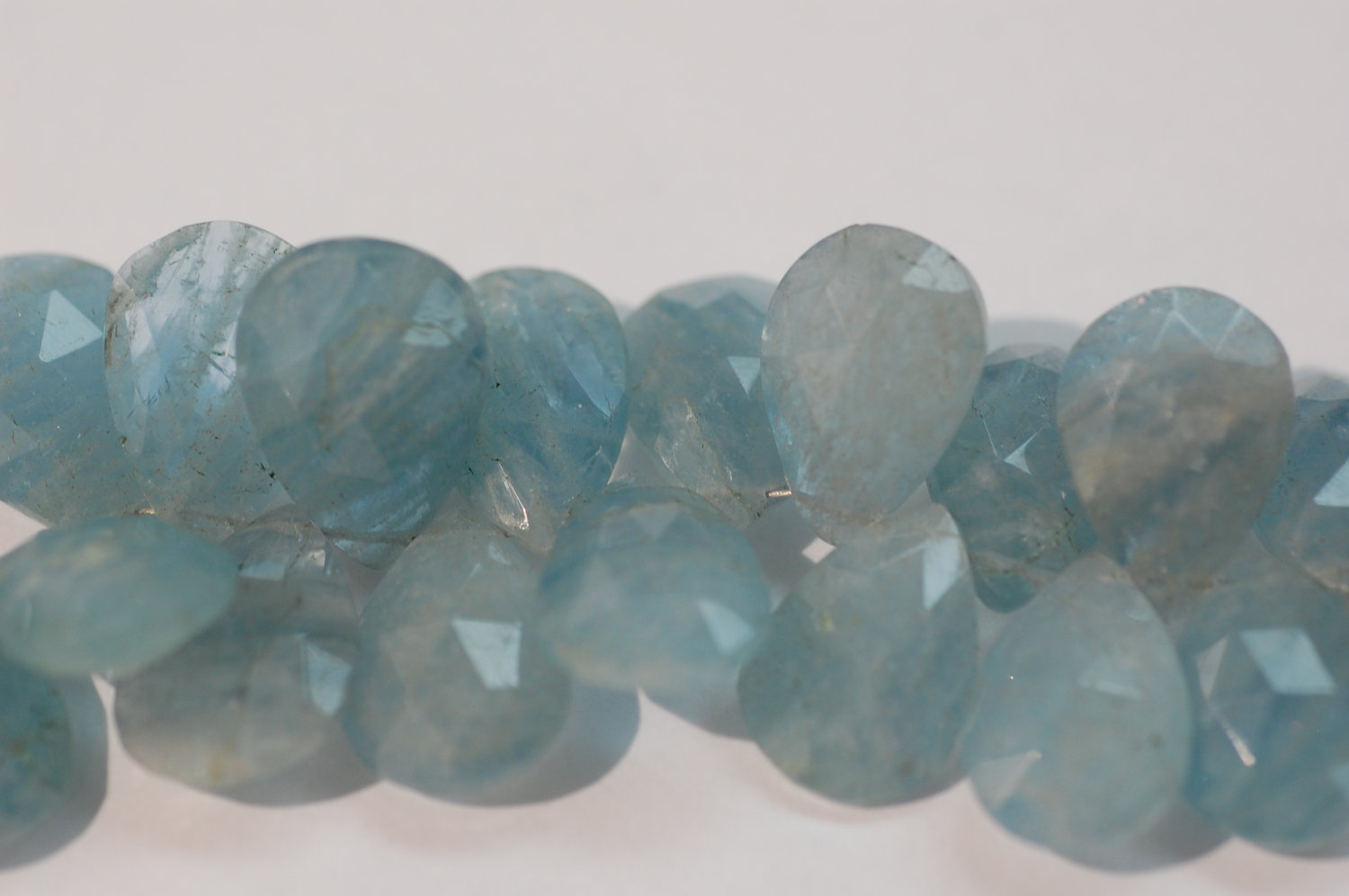 Natural Aquamarine Pear Faceted