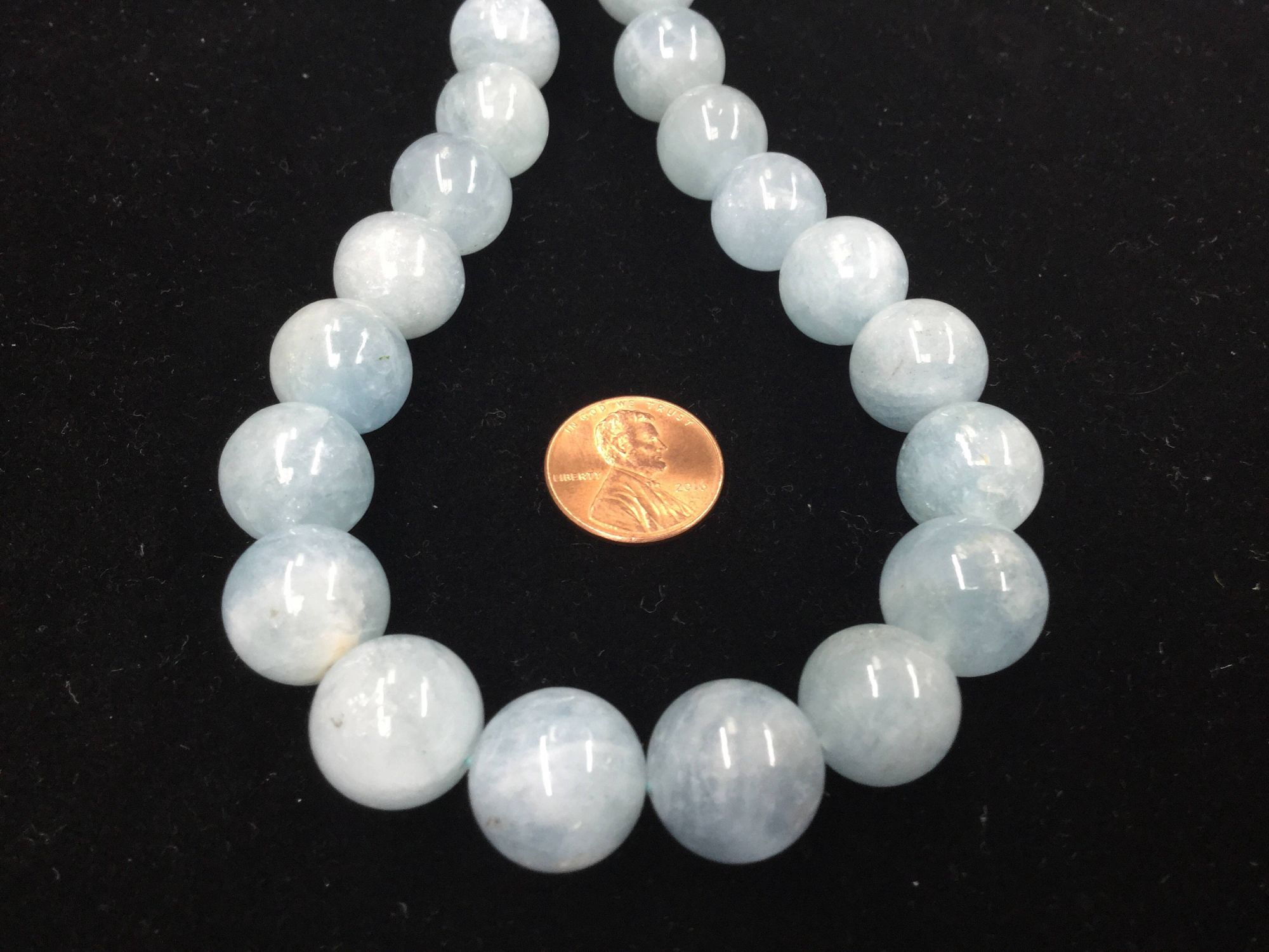 Natural Aquamarine Rounds Smooth
