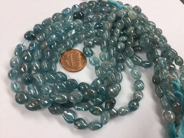 Natural Blue Zircon Nuggets Smooth