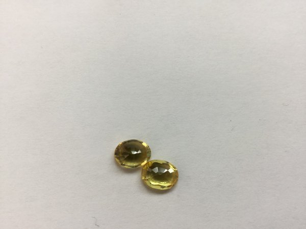Natural Cetrine Sapphire Ovals Faceted