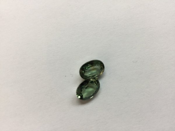 Natural Green Sapphire Ovals Faceted