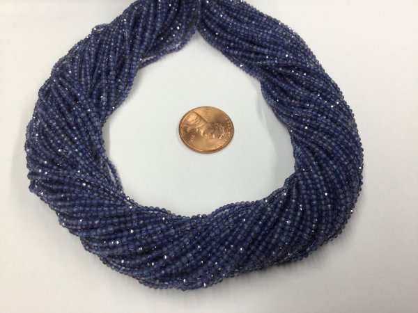Natural Iolite Rondelles Faceted