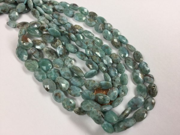 Natural Larimar Ovals Faceted