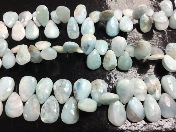 Natural Larimar Pears