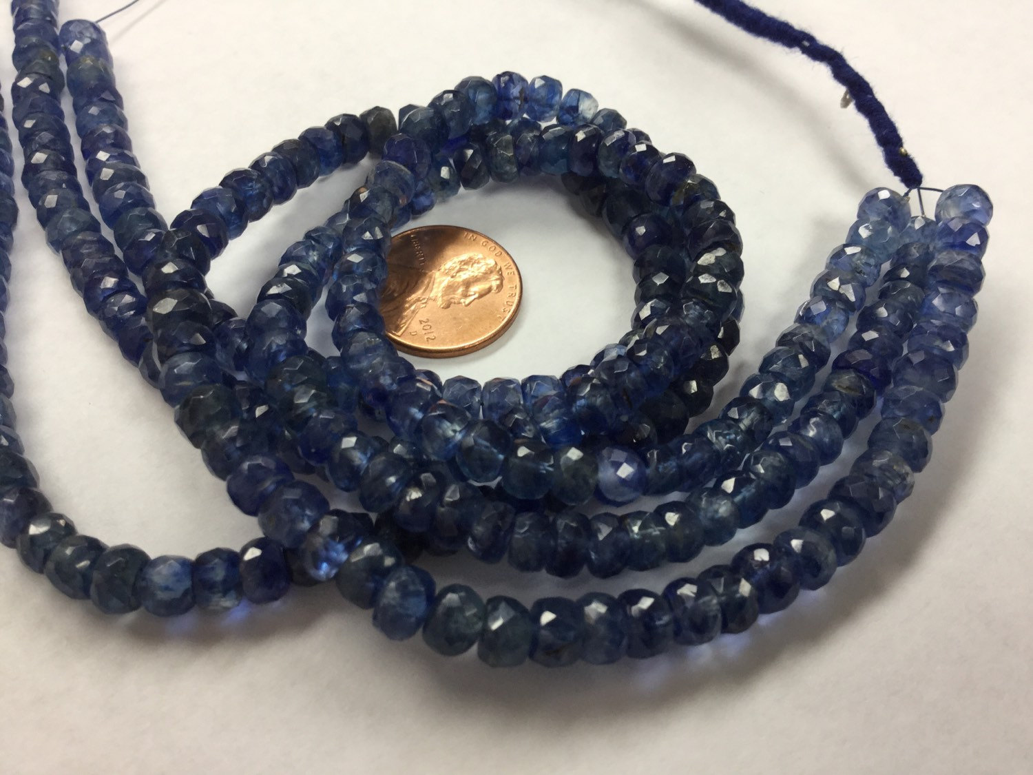 Natural Light Blue Kyanite Rondelles Faceted