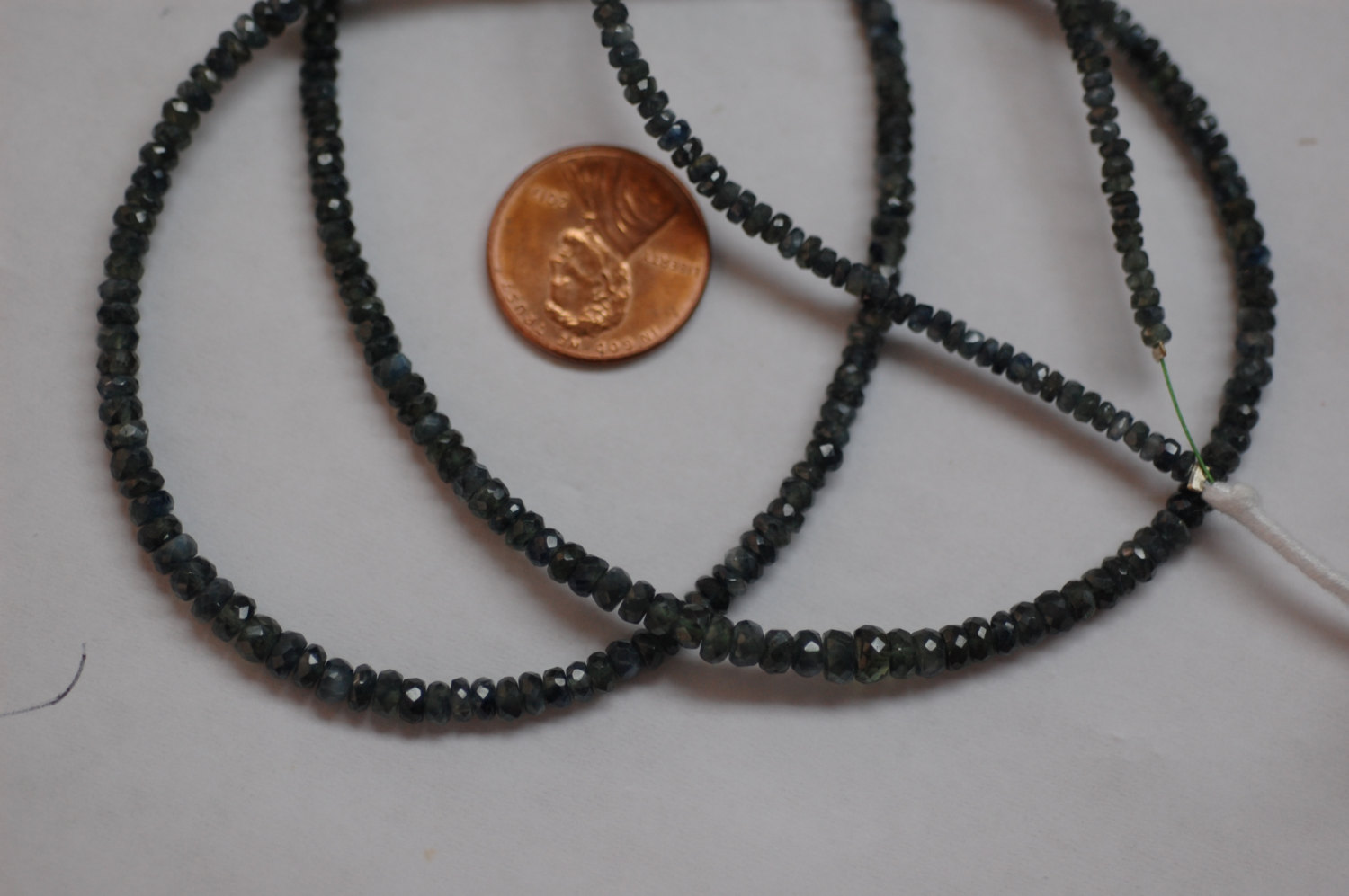 Natural Madagascar Dark Grey Sapphire Rondelle Faceted