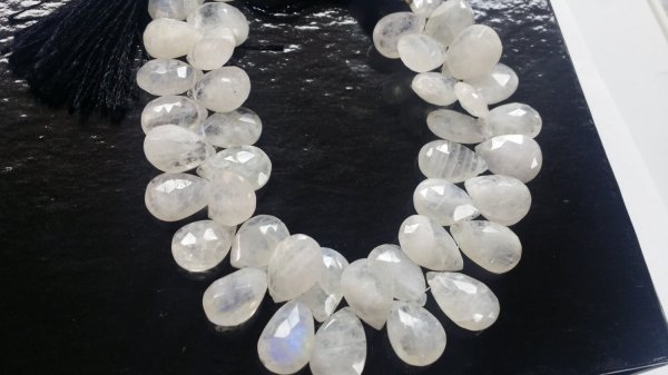 Natural Moonstone Pears Faceted