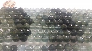 Natural Moss Aquamarine Rounds Faceted