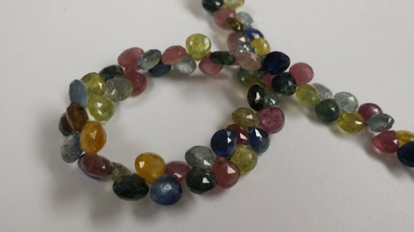 Natural Multi Color Sapphire Hearts Faceted