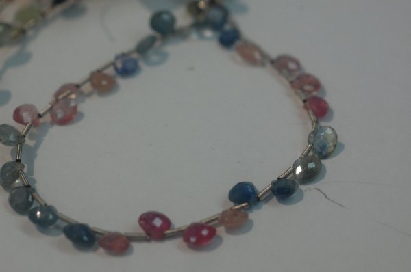 Natural Multi Sapphire Hearts Faceted
