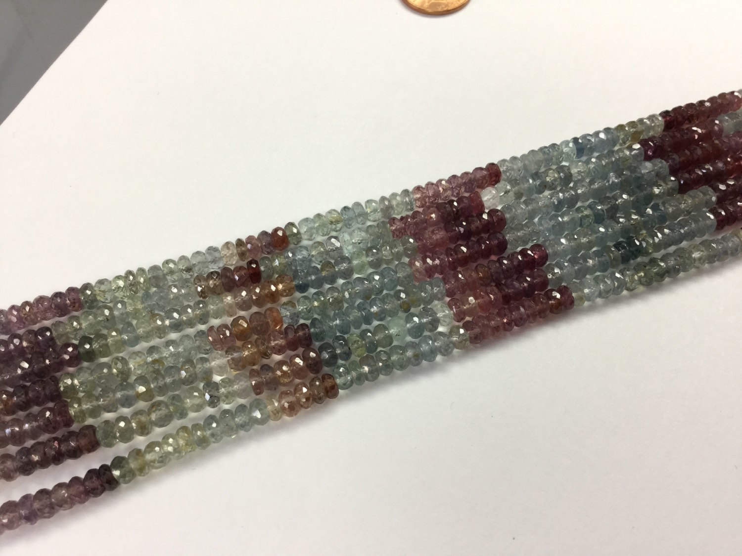 Natural Multi Sapphire Rondelles Faceted