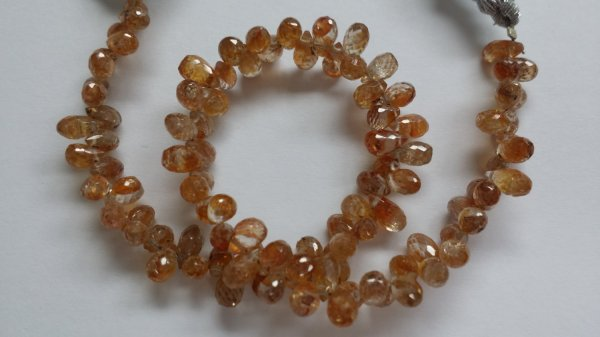 Natural Pale Yellow Zircon Drops Faceted