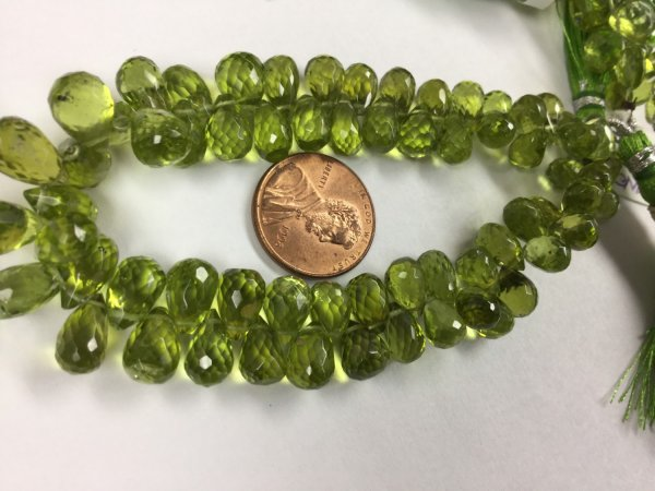 Natural Peridot Drops Faceted