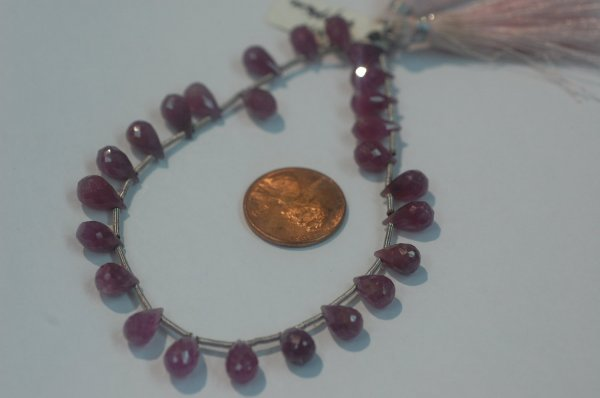 Natural Pink sapphire Drops Faceted