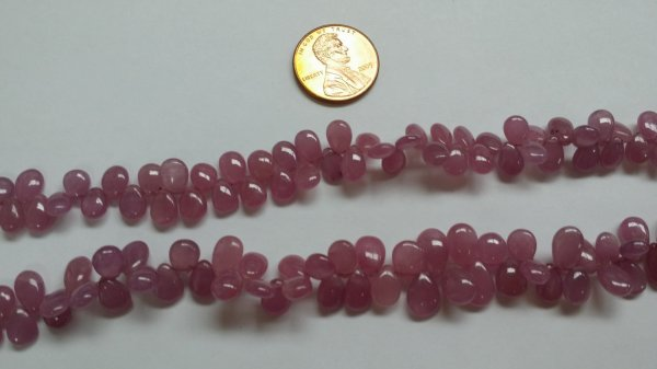 Natural Pink Sapphire Pears Smooth