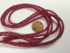 Natural Pink Spinel Rondelles Faceted