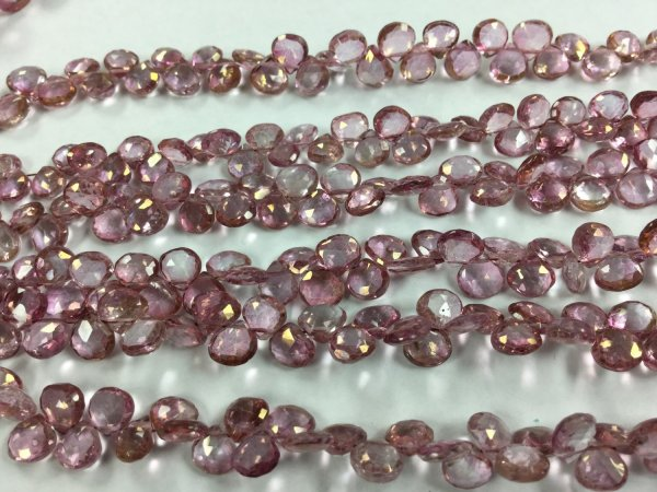 Pink Topaz Hearts Faceted