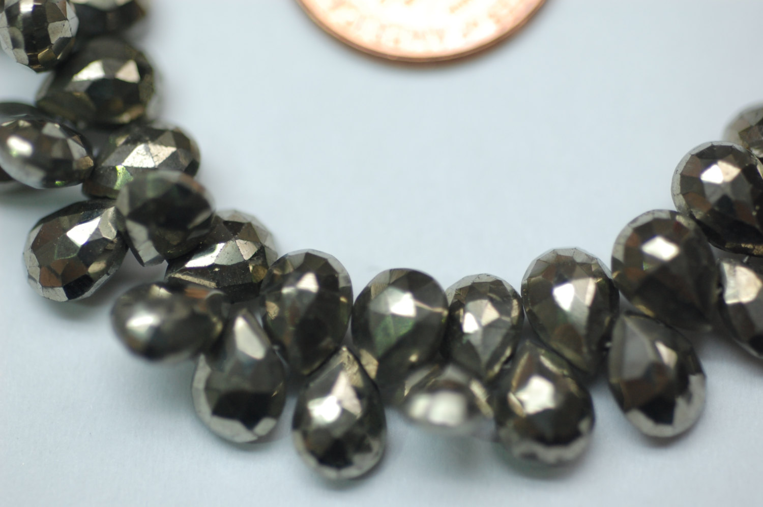 Natural Pyrite Pear Facted