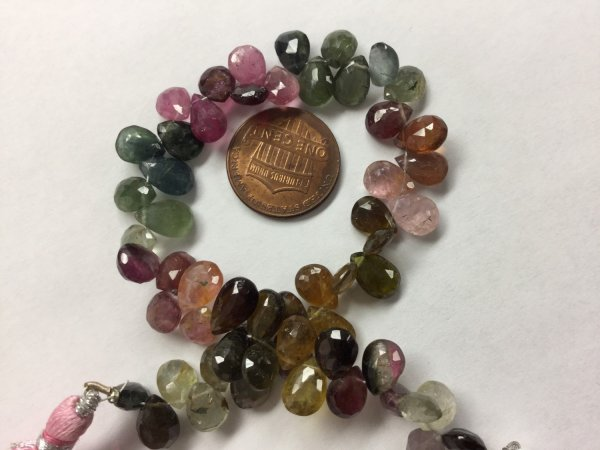 Natural Tourmaline Pears Faceted