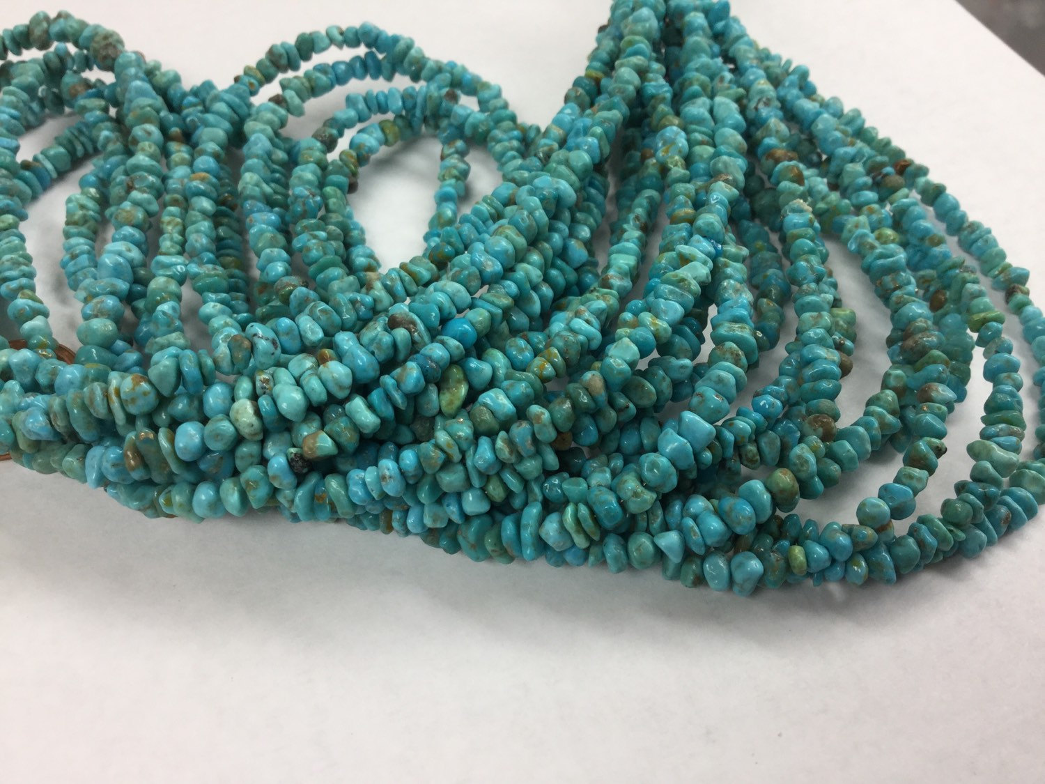 Natural Turquoise Blue Nuggets Smooth