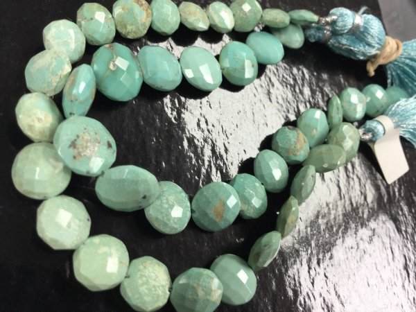 Natural Turquoise Coins Smooth
