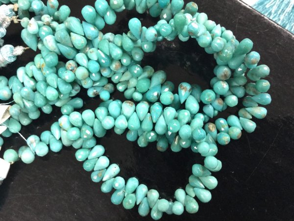 Natural Turquoise Drops Faceted