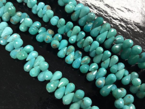 Natural Turquoise Drops Smooth