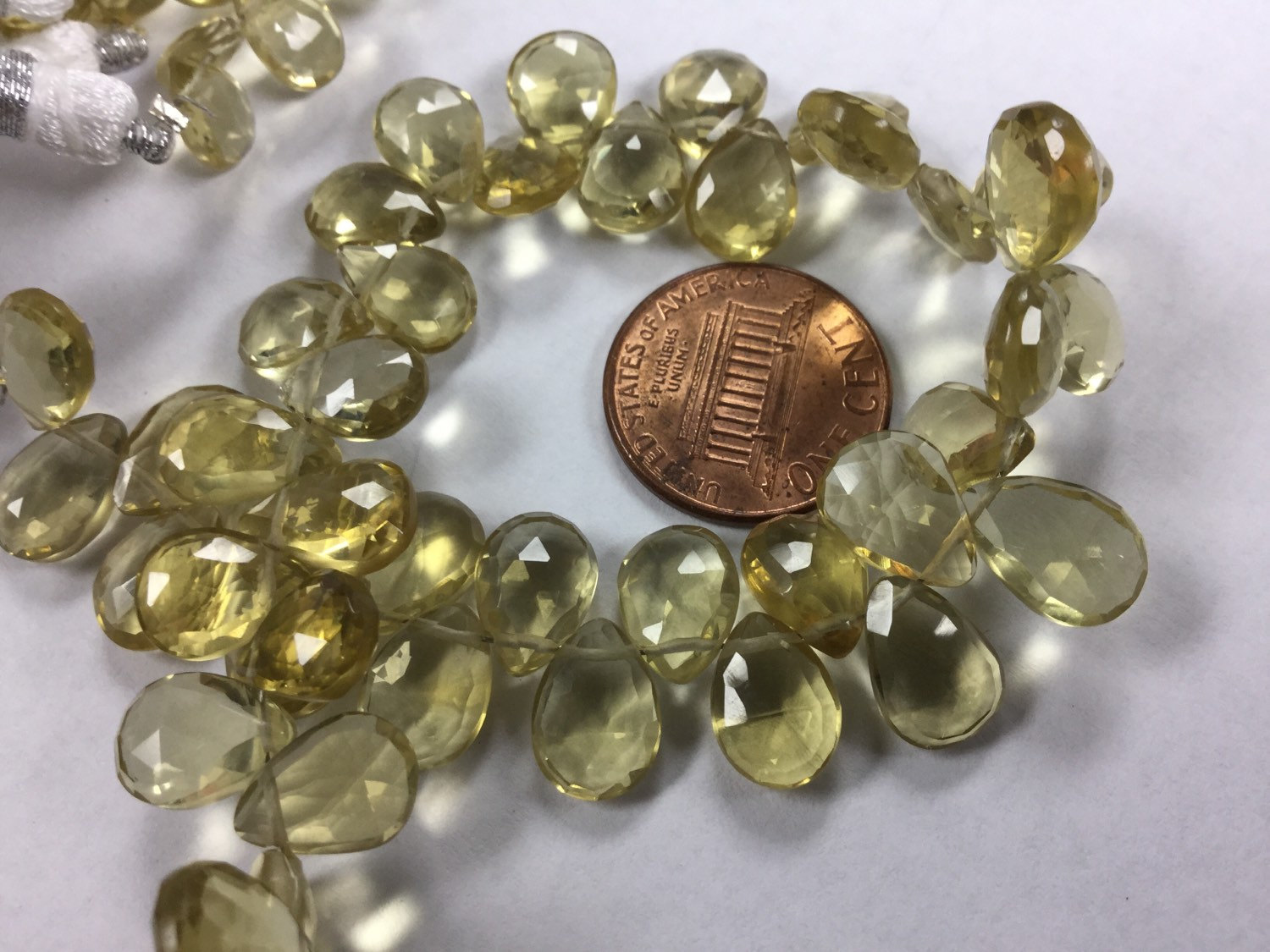 Natural Whisky Quartz Pears Faceted