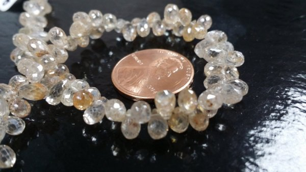 Natural Zircon Drops Faceted