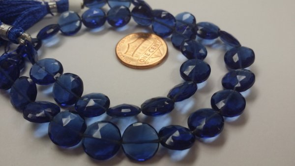 Navy Blue Coins Faceted