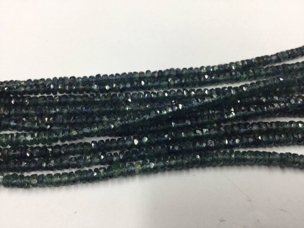 Ombre Green Sapphire Rondelles Faceted