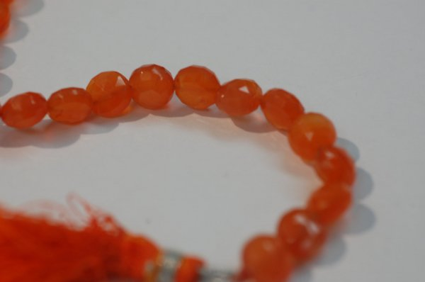 Orange Carnelian  Coins Faceted