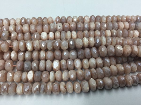 Peach Corundum Rondelles Faceted