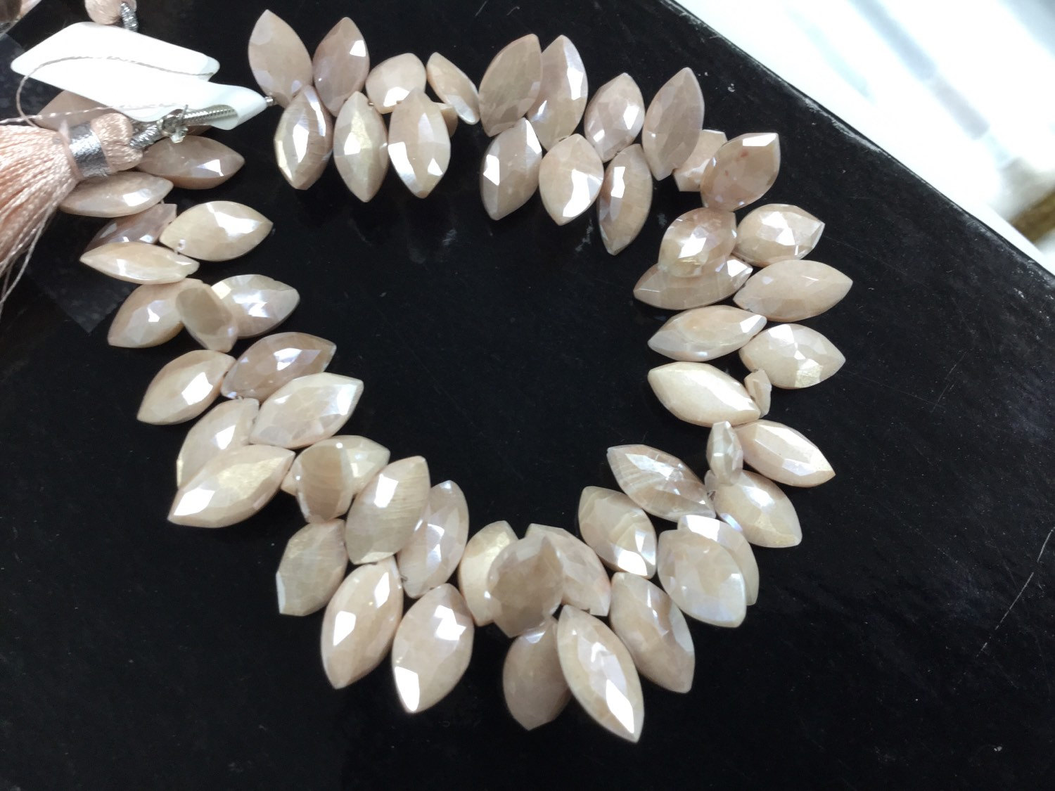Peach Moonstone Marquise Faceted