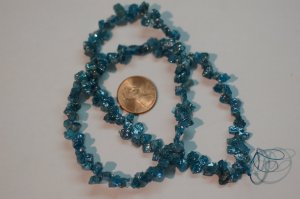 Peacock blue Apatite Funky Cut Faceted