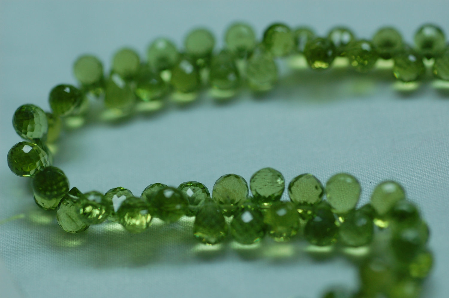 Peridot Drops Faceted