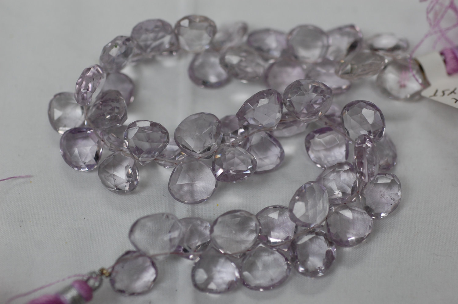 Pink Amethyst Heart Faceted