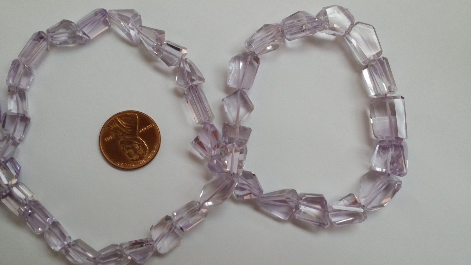 Pink Amethyst Nuggets Faceted