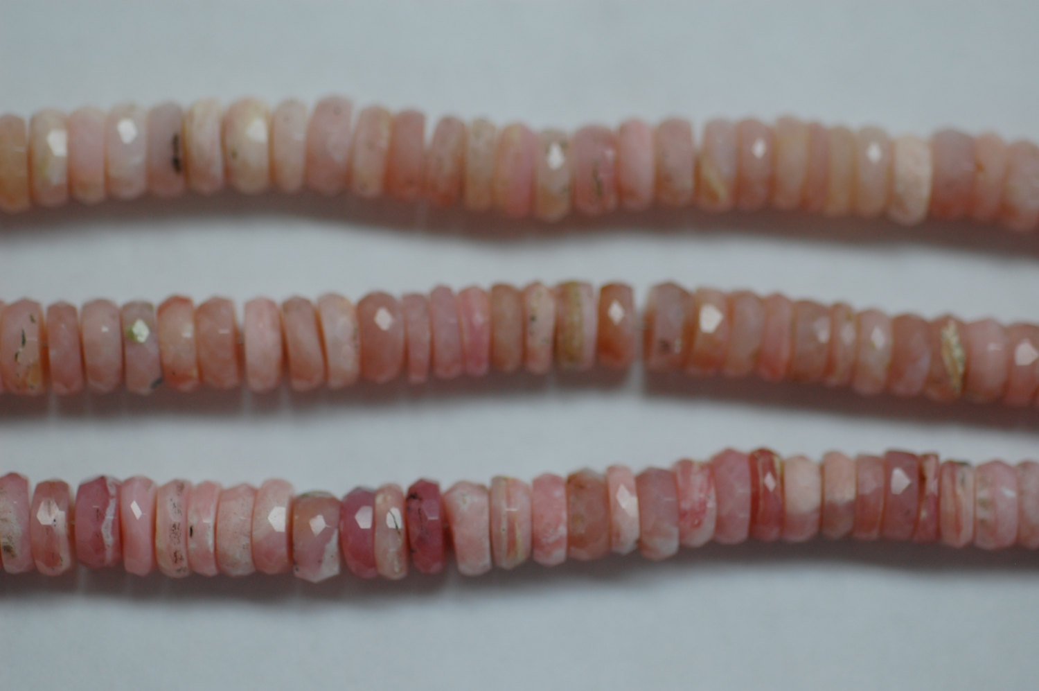Pink Opal Disk Faceted