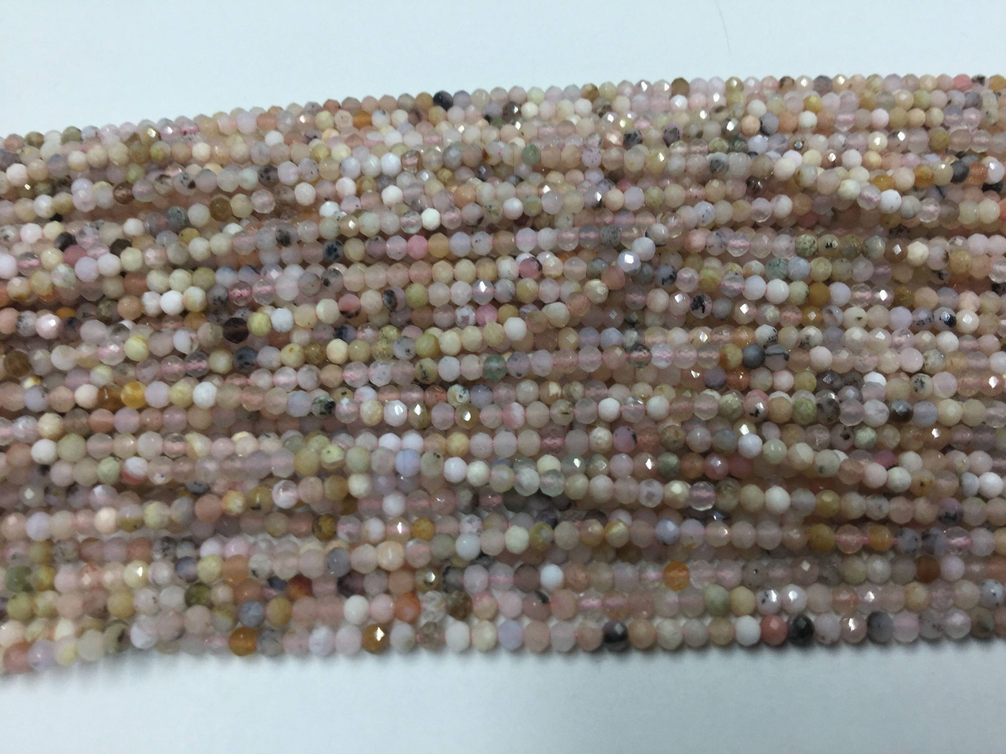 Pink Opal Rondelles Faceted