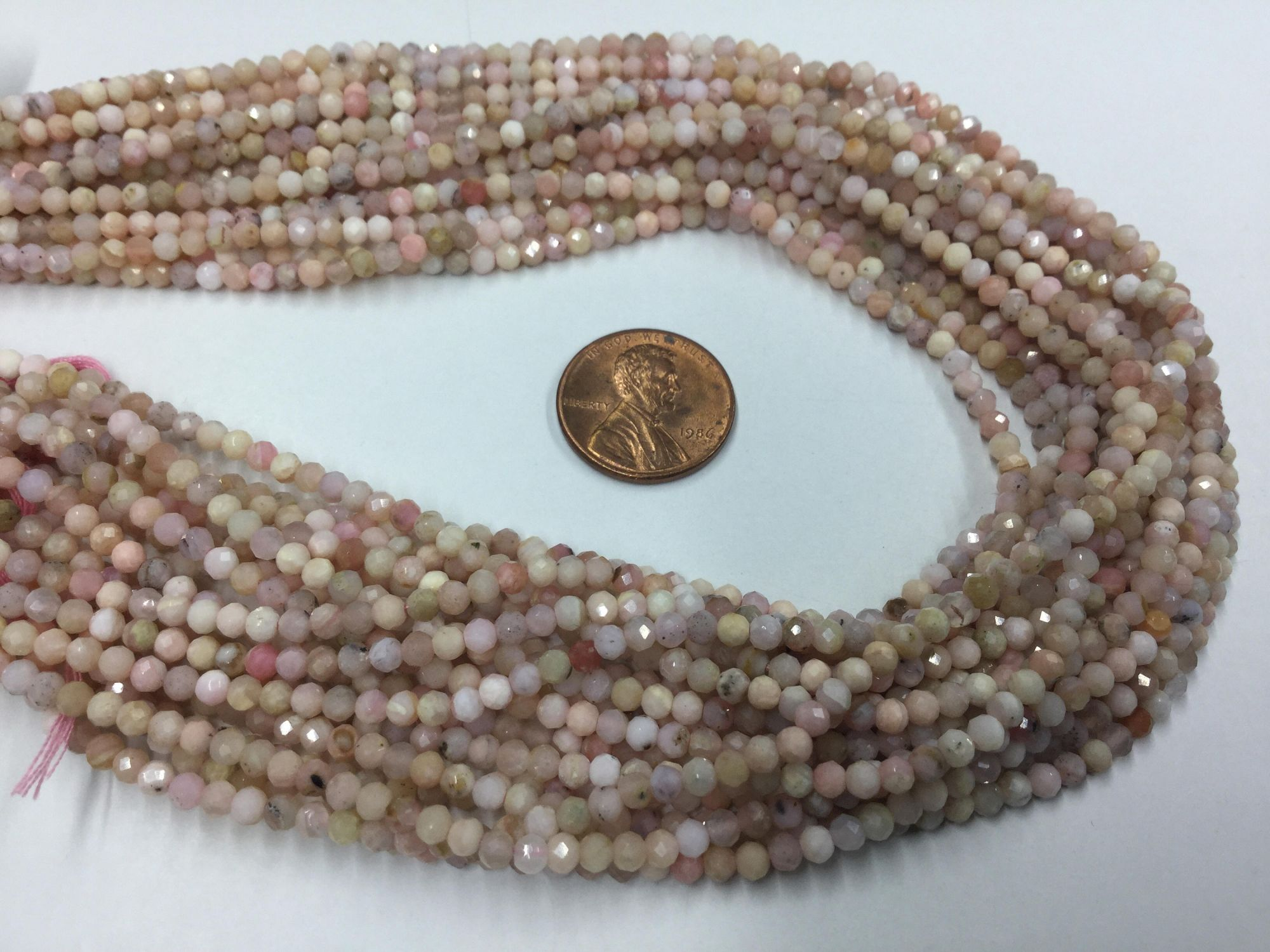 Pink Opal Rounds Faceted