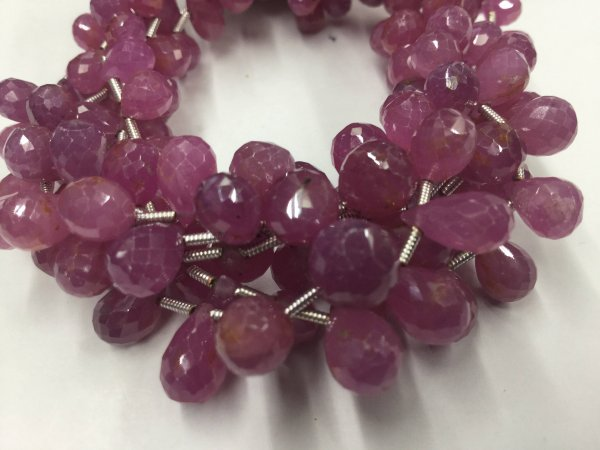 Pink Sapphire Drops Faceted