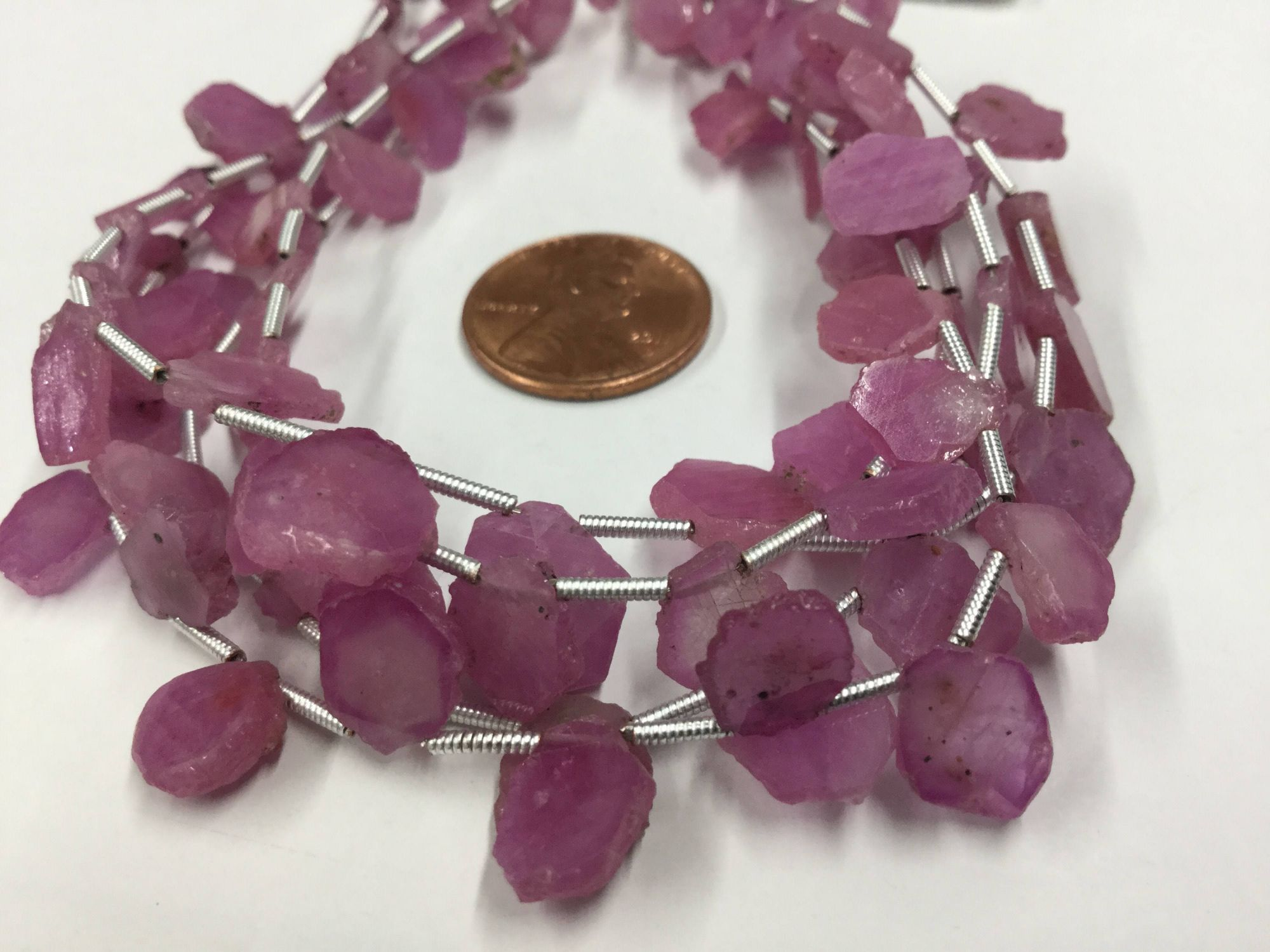Pink Sapphire Slices Faceted
