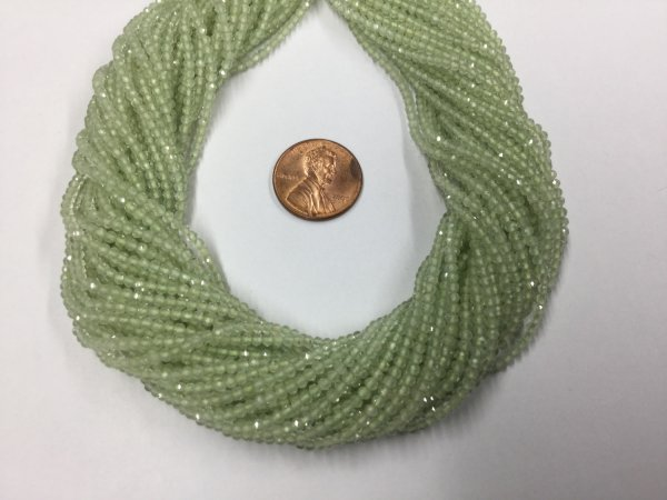 Prehnite Rondelles Faceted