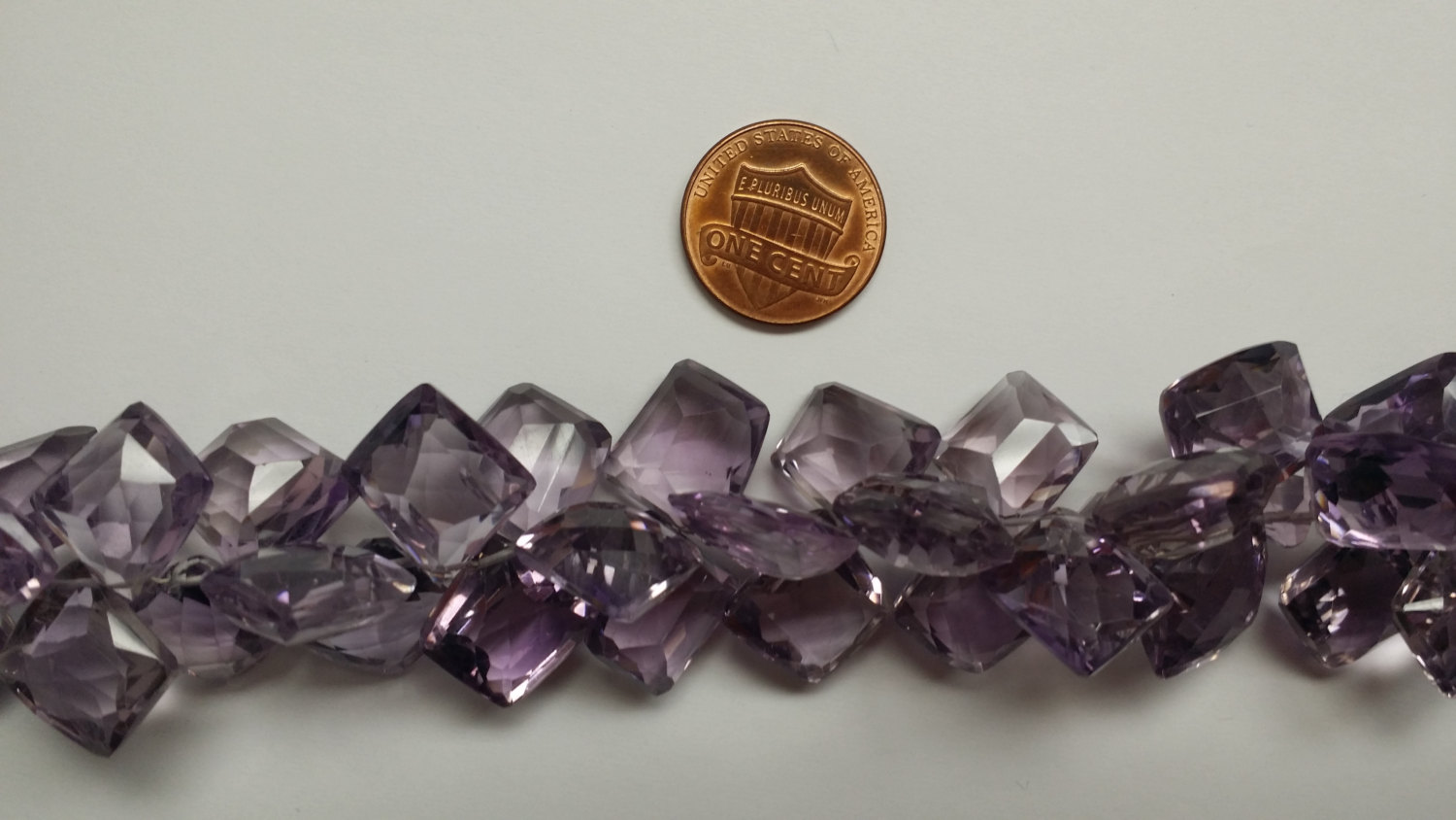 Purple Funky Cut Hydro Quartz Faceted