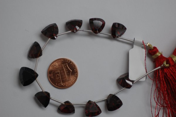 Red Garnet Trillions Faceted