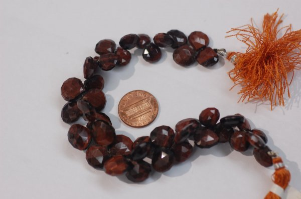 Red Tiger Eye Heart Faceted