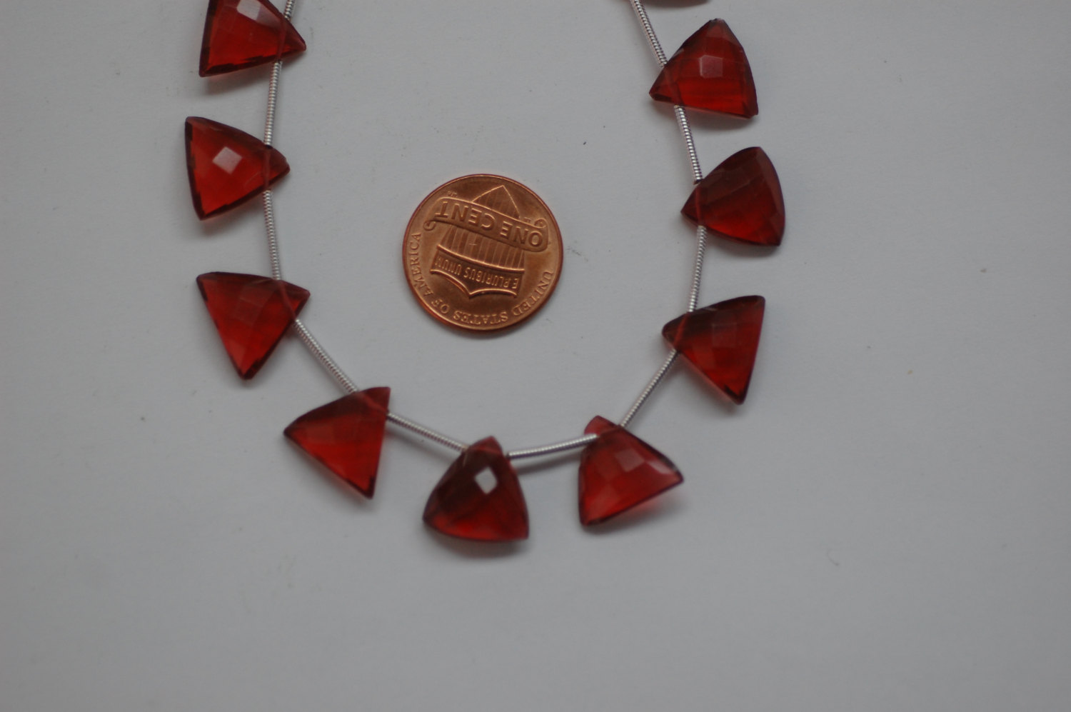 Red Triangle Hydro Quartz Faceted