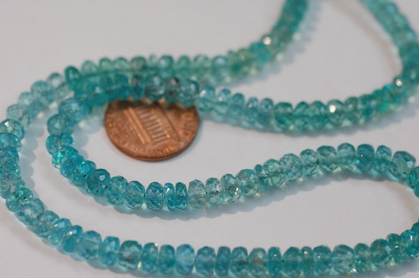 Regular Apatite Rondelle Faceted