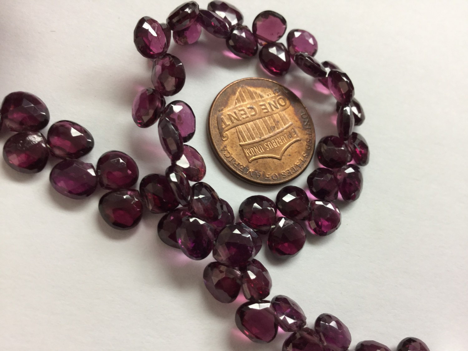 Rhodolite Hearts Faceted